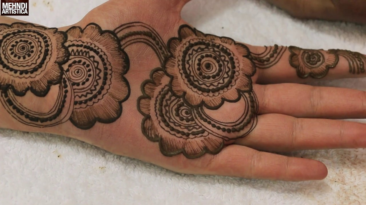 Mehndi Flower Tattoo Designs : Circular floral trendy henna mehndi designs:learn indian mehendi