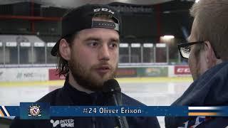 BHFs #19 Markus Nygren och #24 Oliver Erixon efter segern mot Huddinge