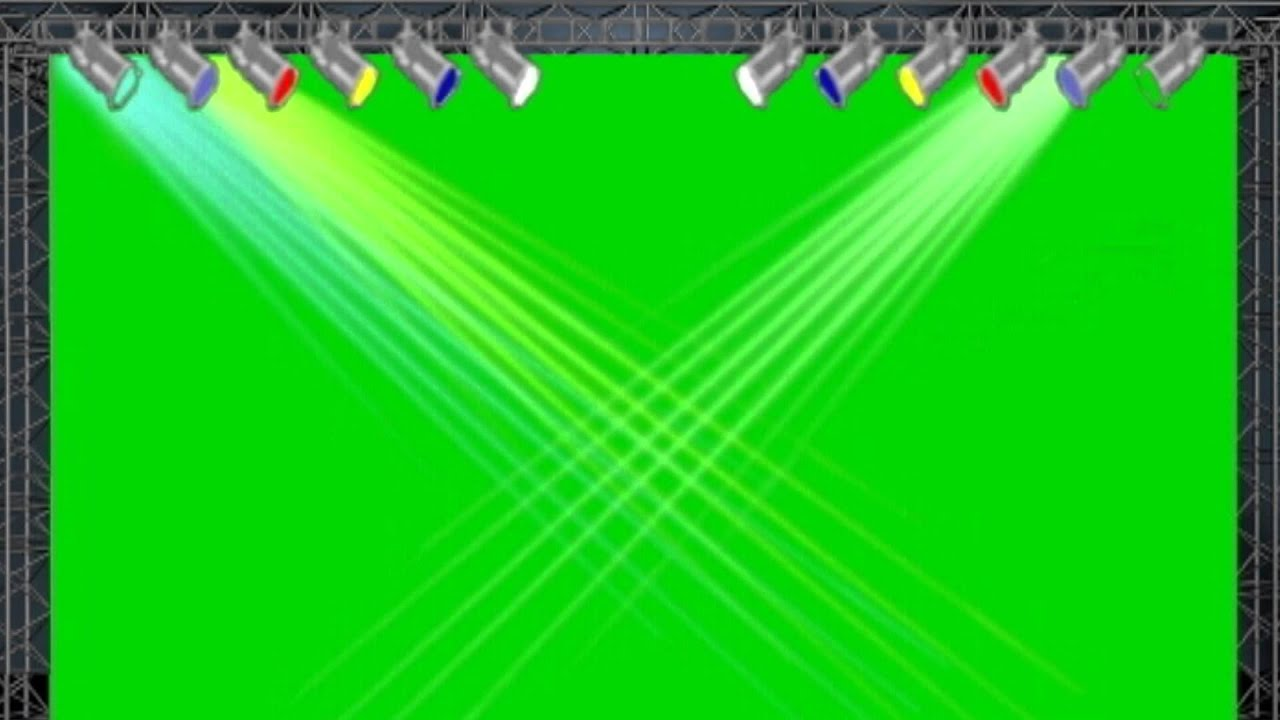 Concert stage lights 2 0 green screen animation youtube for 1234 get on the dance floor hd video download