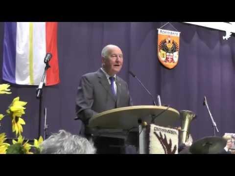 Eröffnung des 19. Landestreffens der Ostpreußen in Mecklenburg-Vorpommern durch Manfred F. Schukat