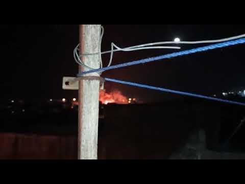 شاهد حريقا بمخزن قنينات الغاز بالقليعة بفاس