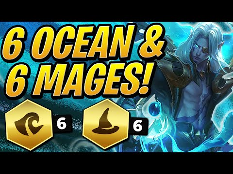 NEW BUFFED 6 OCEAN & 6 MAGES! How STRONG IS IT?!   Teamfight Tactics set 2   TFT   LoL Auto Chess
