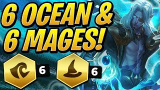 NEW BUFFED 6 OCEAN & 6 MAGES! How STRONG IS IT?! | Teamfight Tactics set 2 | TFT | LoL Auto Chess