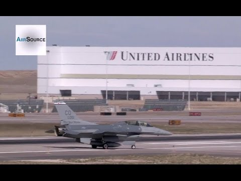 F-16 Tests Arresting Cable at Denver International Airport