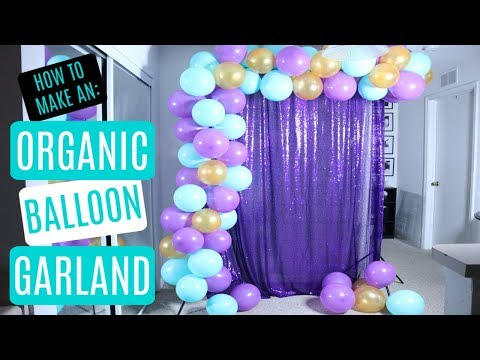 Organic Balloon Garland Backdrop