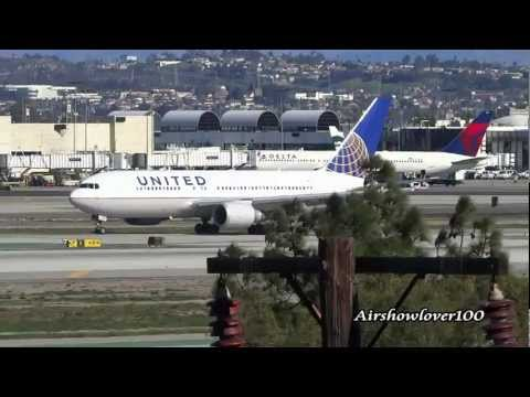 United Airlines Boeing 767-200ER Landing LAX RWY 25L
