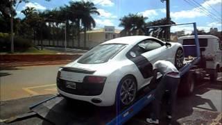 Audi R8 V10 (532 CV) Starp up and Acceleration Sound !! Desembarcando em Goiânia na M3 Motors