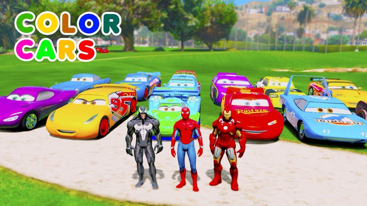"Mack Truck Lightning ""Rayo McQueen"" McQueen Stream Cars (Carros) cartoon Jackson Storm LIVE MIX"