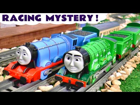 Toy Train Racing MYSTERY with Thomas and Friends Gordon and The Flying Scotsman