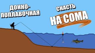 Поплавочная оснастка для ловли сома с берега ЛОВЛЯ СОМА