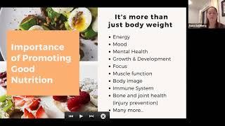 Nutrition for Rhythmic Gymnastics 31.10.20