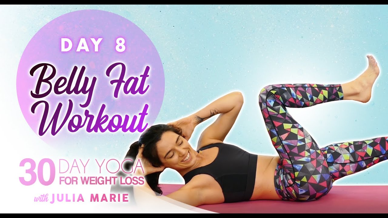 30 Day Yoga For Weight Loss Julia Marie Essential Core Work For Abs Belly Fat 30 Mins Day 8 Youtube