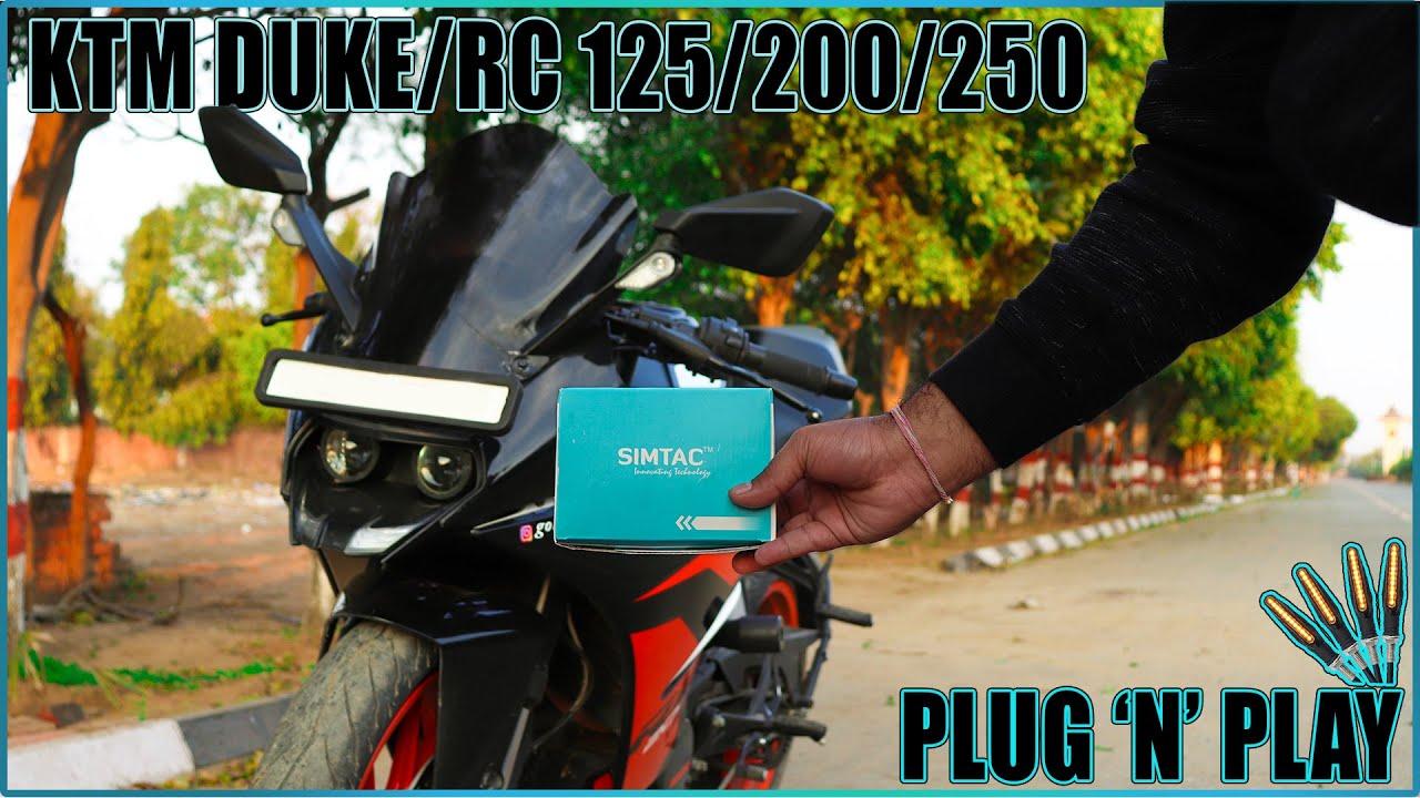 Switchless SIMTAC KTM Hazard Flasher for Duke/RC 125/200/250   KTM New Model 2020   Installation