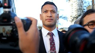 Prime Minister Condemns Israel Folau's 'appalling' Fire, Drought Claims