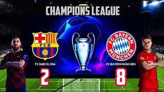 Tadi malam barcelona 2 vs bayer munchen ...