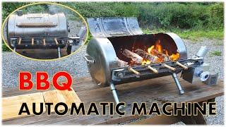 버려진 물 탱크로 용접없이 회전 바베큐 그릴  만들기.…