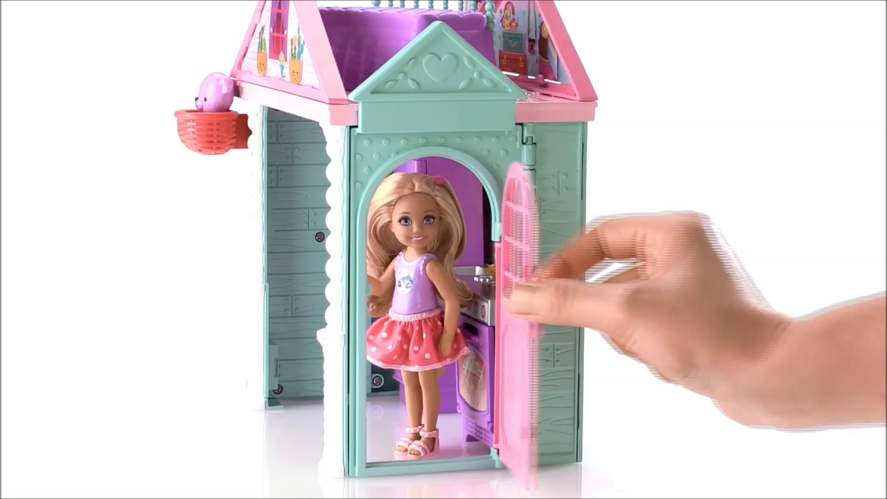 Smyths Toys Barbie Club Chelsea Playhouse And Doll Youtube