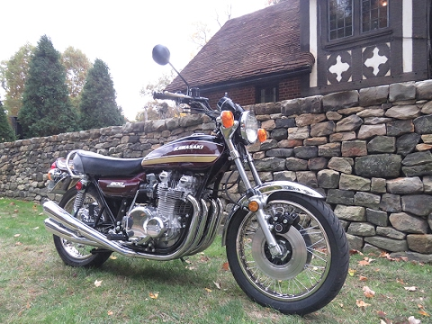 1975 Kawasaki Z1 900 Long-Distance Restoration OH to CA