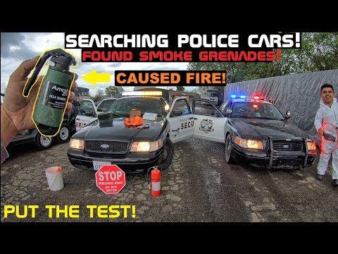 Searching Police Cars! Found Smoke Grenade! Crown Rick Auto