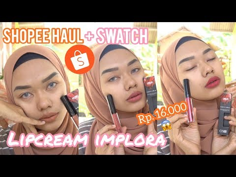 lipstick-murah,-review+swatches-lipcream-lokal-urban-lipcream-matte-implora-by-cancan-esen