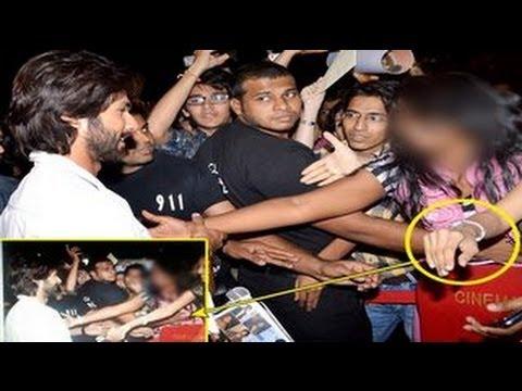 Girls being groped in public