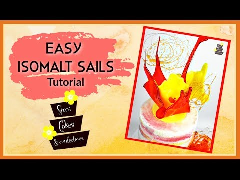 Easy Isomalt Sails Tutorial
