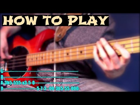 How to play Spoonman in TWO Minutes // Soundgarden Bass Tutorial + Tab