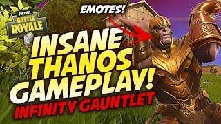 PLAYING AS THANOS!! INFINITY GAUNTLET!! | Fortnite: Battle Royale (THANOS GAMEPLAY)