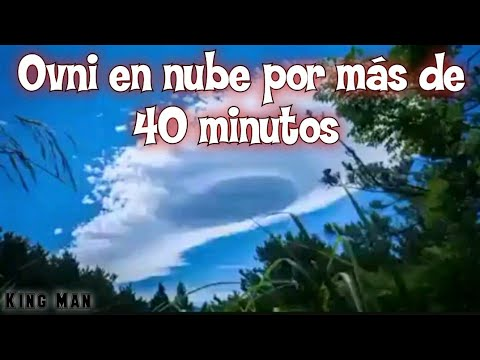 Ovni se esconde en nube por más de 40 minutos, la nube no desaparece ni se disipa