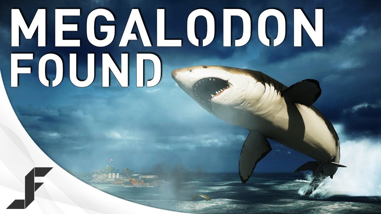 MEGALODON FOUND! Battlefield 4 Giant Shark Easter Egg!