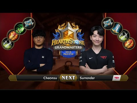 che0nsu vs Surrender   2021 Hearthstone Grandmasters Asia-Pacific   Decider   Season 1   Week 5