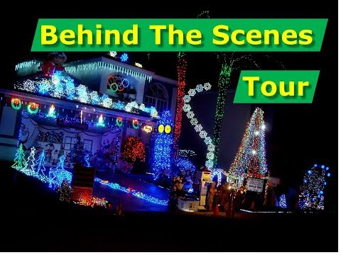 Behind The Scenes Tour, Christmas Light Show Display 60,000 LED Lights