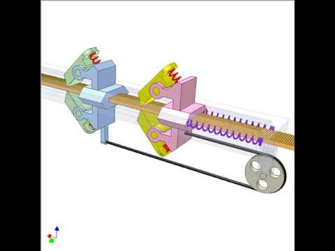 Reciprocating linear motion into continuous oneway one