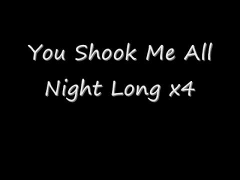 AC/DC-You Shook Me All Night Long Lyrics
