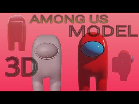 Among Us Online Game 3d Model In Blender Blender Tamil Tutorial Vpee Studios Youtube