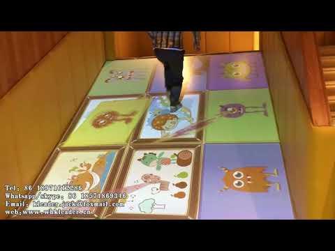 Newest Indoor Children Slide Interactive Projection Game Equipment