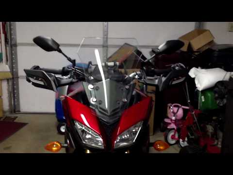 Installing LED Knuckle Guard Kit on Yamaha FJ-09