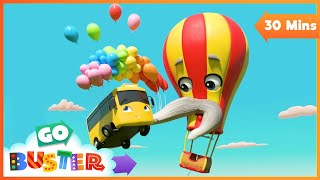 Hot Air Balloon Trouble - Buster and Friends to the Rescue | Go Buster | Baby Cartoons