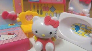 Hello kitty toys キティちゃん おままごとセット kitchen bed bath sofa mamagoto