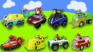 1 hour of fun with Paw Patrol: helicopters, toy cars, missions Compilation