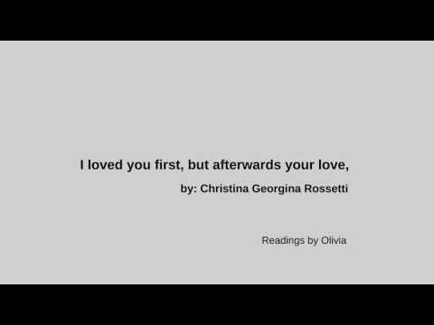 I loved your first, but afterwards your love