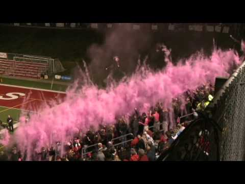 "North Hills Student Section ""Fade To Pink"" Powder Toss"