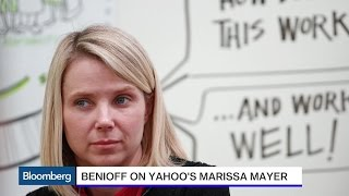 Salesforce CEO Marc Benioff Says Yahoo's Marissa Mayer Is 'Completely Magical'