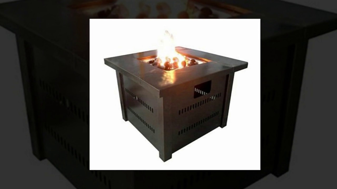 Best outdoor fire pit table reviews youtube for Concreteworks fire table