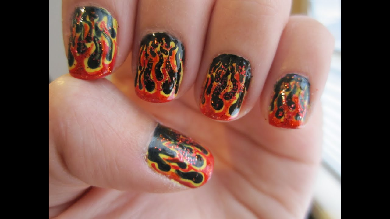 The Hunger Games Nails - The Girl on Fire - YouTube