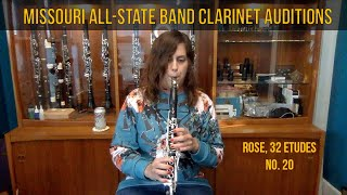 Missouri All-State Band Audition Music for Clarinet Rose #20 Performance & Break-Down