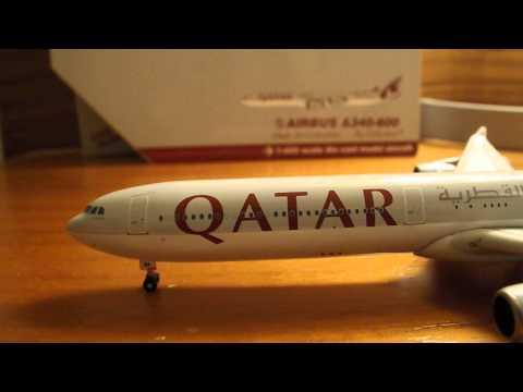 Gemini Jets Qatar A340-600 review