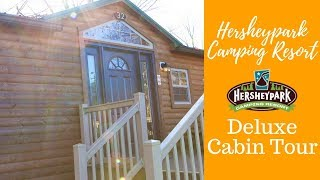 Tour the inside of a deluxe cabin at Hersheypark Camping Resort