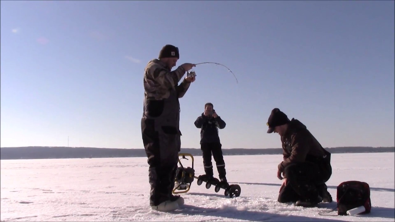 Ice fishing lake trout 2017 higgins lake youtube for Ice fishing 2017