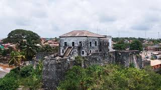 Drone Footage Of The Axim Castle - Ghana Travel Blog - Africa Gold Coast Slave Trade
